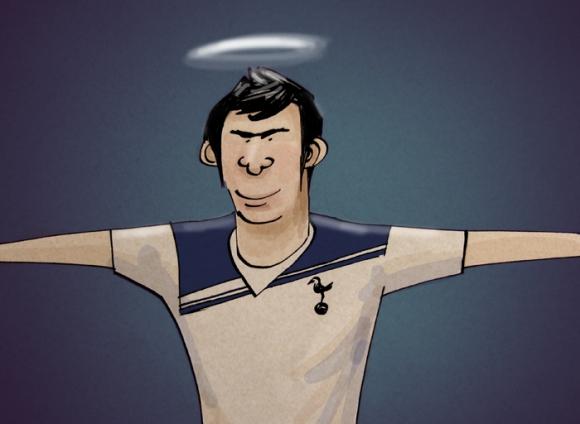 Gareth Bale Cartoon Spurs Halo Hero Tottenham