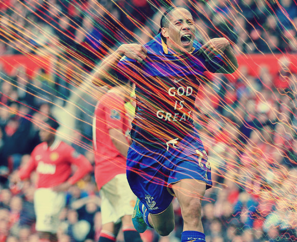 Steven Pienaar Everton Football Soccer English Premier League Man United